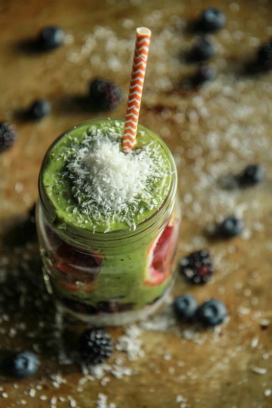 Super Green Coconut Tapioca Smoothie (Vegan) from HeatherChristo.com
