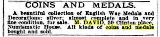 M. David New York Herald, Oct 9 1898
