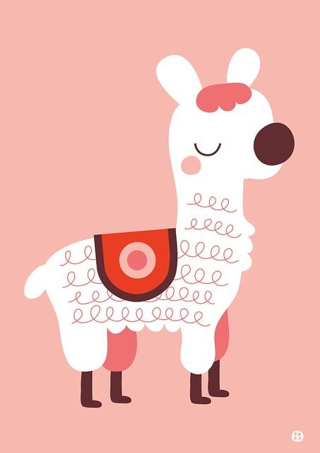 Poster Alpaca by BORA
