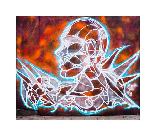 Graffiti (Kult), North London, England.