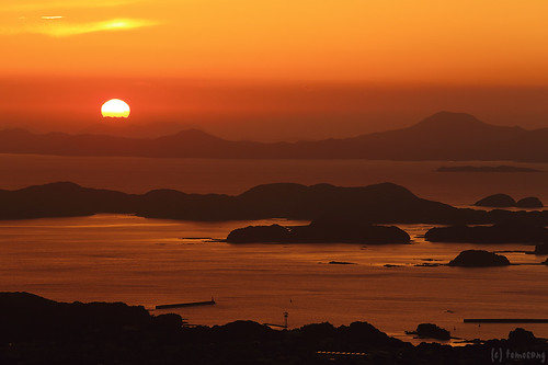 Sunset from Yumiharidake Observation Deck