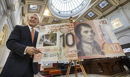 Robert Burns polymer banknote