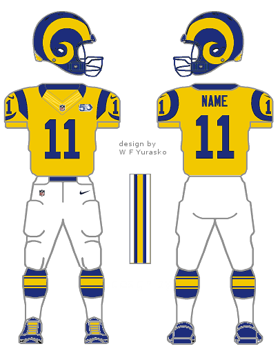 d04b5e8195d What the L.A. Rams uniforms ought to look like – William F. Yurasko