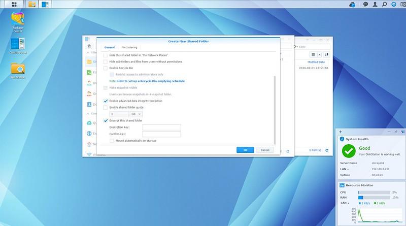 DSM - Encrypt Shared Folder
