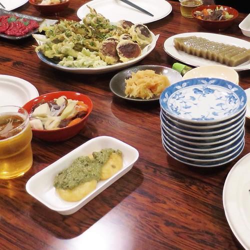 ソーメンカボチャの粕漬け(3年もの)が、日本酒とよく合う感じで美味しかった。こんにゃくみたいな見た目のエゴも、僕は好きでしたよ。