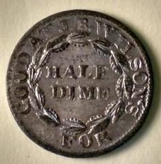Half Dime token J. B. Wilson's, St. Louis, MO obverse