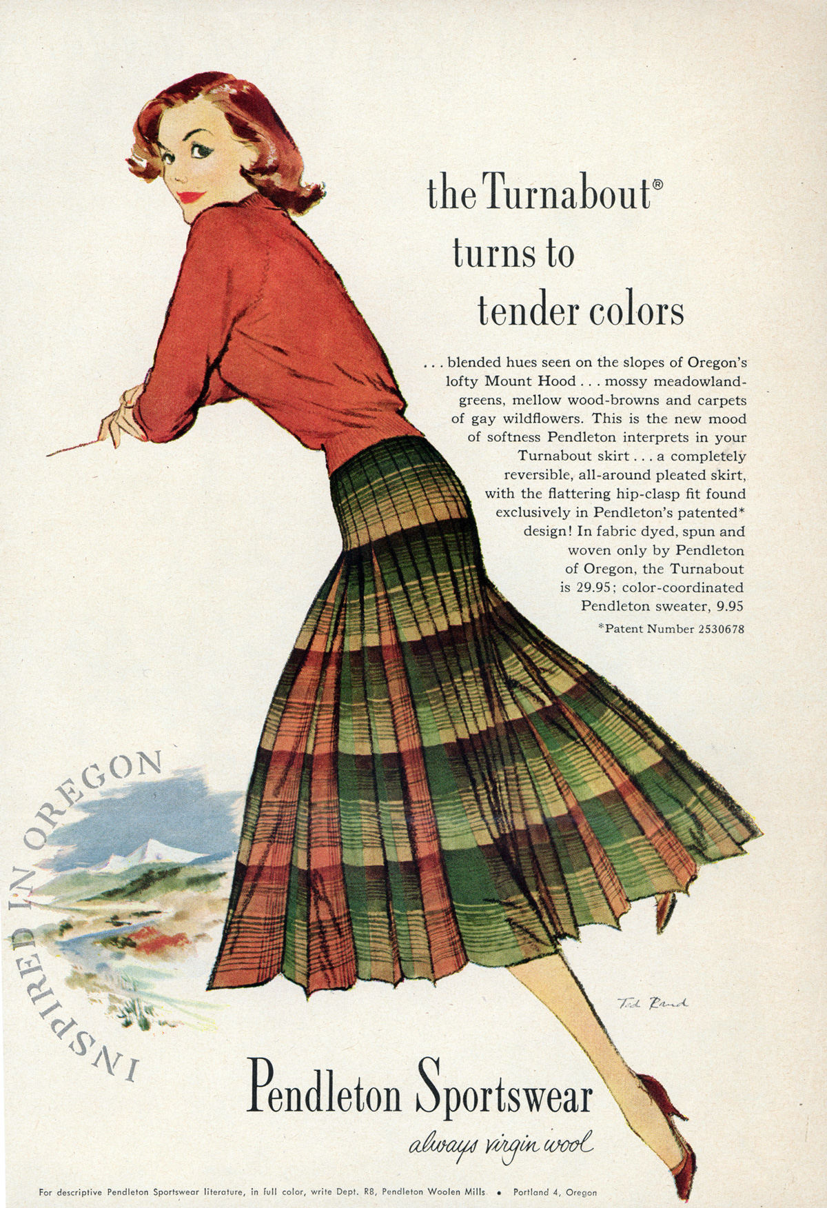Pendleton, 50s, ad, skirt