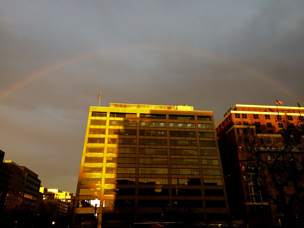 rainbow over Farragut Square