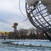 The Unisphere and the New York State Pavilion by Joe Shlabotnik