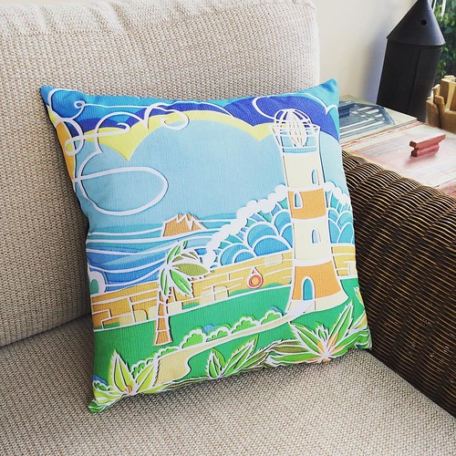 Pillow Featuring a Design by Apple Seed Paper Cuts