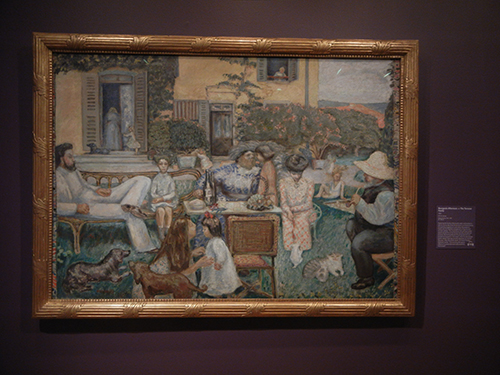 Pierre Bonnard, Legion of Honor, SF - A Bourgeois Afternoon or The Terrasse family _ 1880