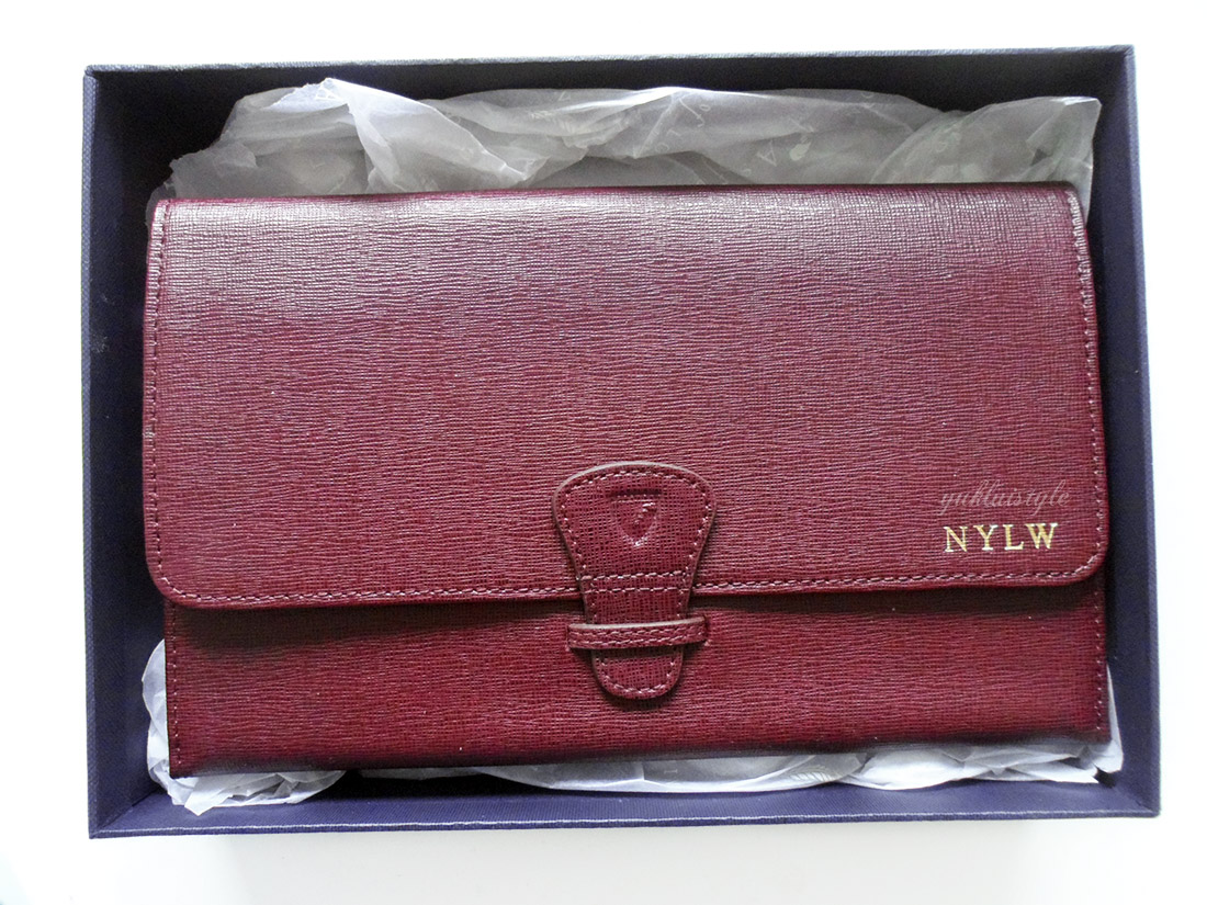 Aspinal of London Classic Travel Wallet with Personalisation