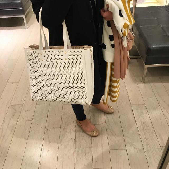Ann Taylor Signature Laser Cut Tote