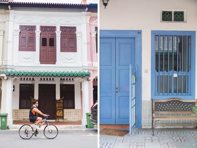 Colorful houses Blair Road Singapore