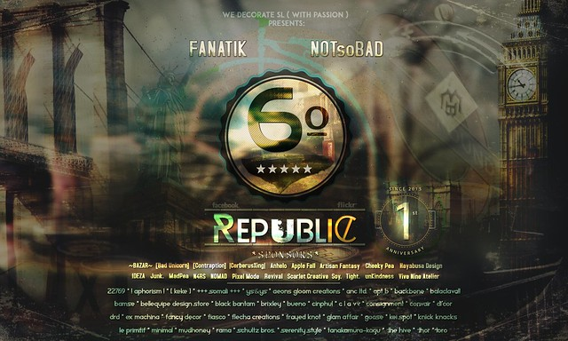 Poster Official:  6º Republic Event - 1st Anniversary Edition
