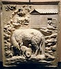 """""""Relief with sheep and lambs"""" (late 1st century BC) - Wien, Kunsthistorisches Museum, now at exhibition """"Myth and Nature"""" at Archaeological Museum of Naples, until September 30, 2016"""