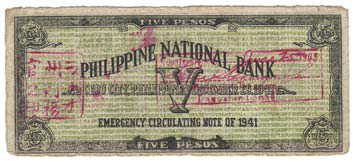 1943 Lanao Overstamped and Redeemed Note face