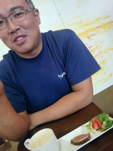 前菜。カモ肉が美味しかった~