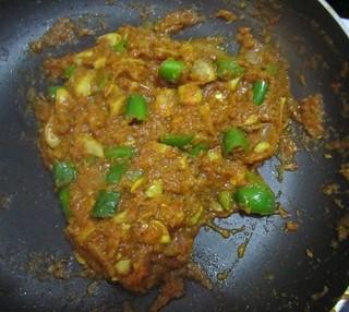 Mushroom masala - Mushroom masala almost done