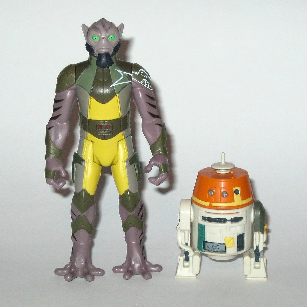 Star Wars Rebels 3.75 Figure 2-Pack Garazeb Orrelios and and C1-10P Chopper