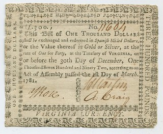 1000note from 1781