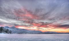 Northern Canada Winter Sunrise