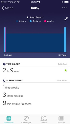 A nap by Fitbit