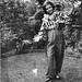 Girl having fun in the garden 1930's by vintage ladies