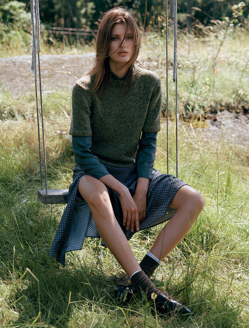 Louise Lefebure by Johan Sandberg for Elle Sweden  August 2015