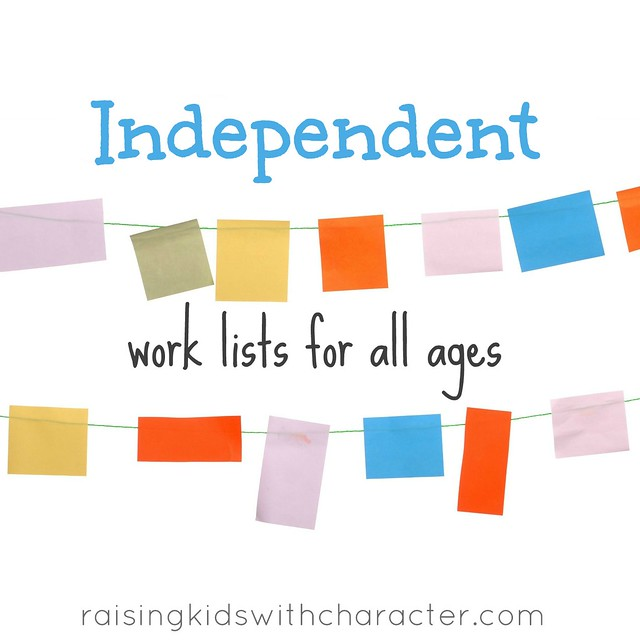 Podcast Notes for: Daily Duties--Independent Work Lists for All Ages