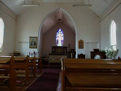 Rainbow. Interior of the still used Anglican Church. it was built in 1910.