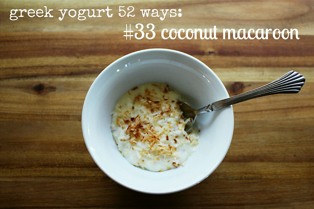 greek yogurt 52 ways: # 33 coconut macaroon