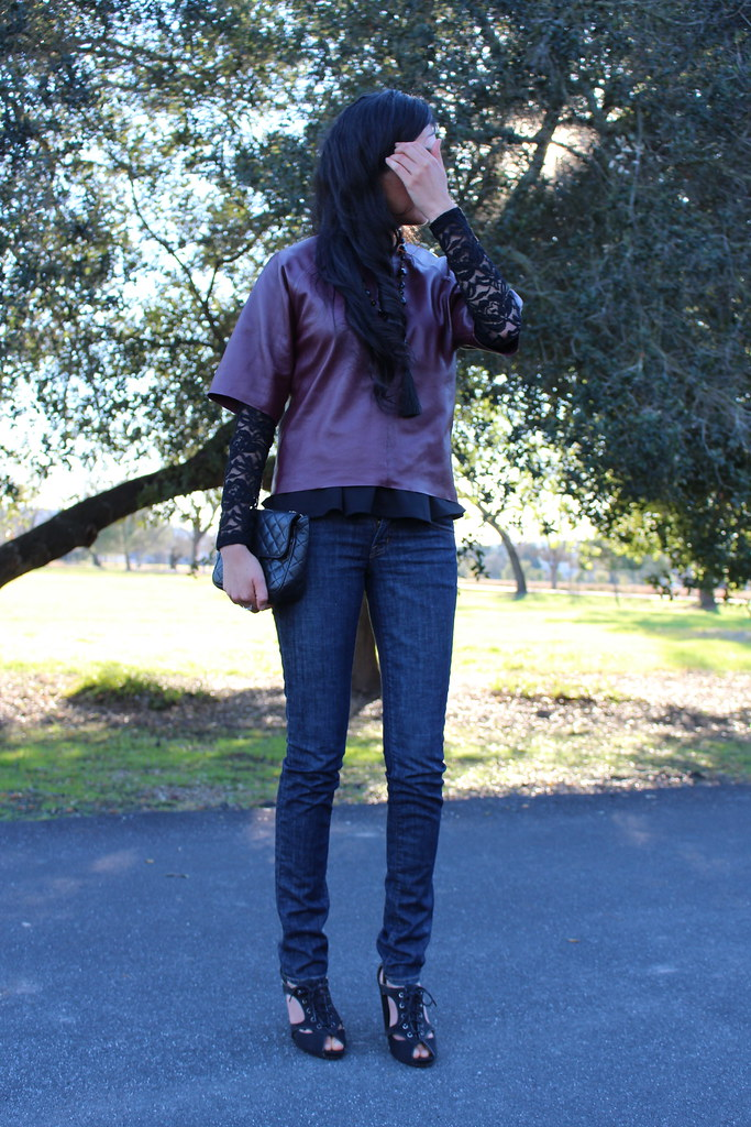Layering with Leather and Peplum 5