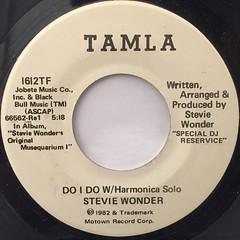 STEVIE WONDER:DO I DO W:Harmonica solo(LABEL SIDE-B)