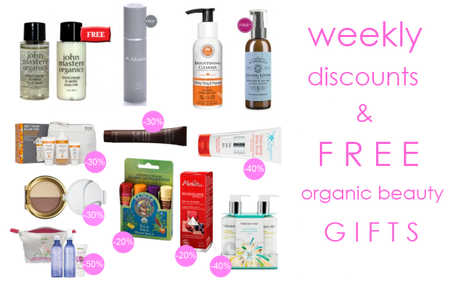 Weekly Discounts and Free Organic Beauty Gifts #49