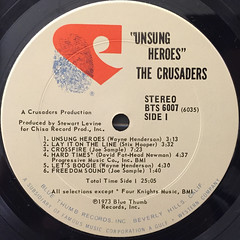 THE CRUSADERS:UNSUNG HEROES(LABEL SIDE-A)