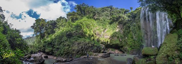 Hulugan Falls Panorama