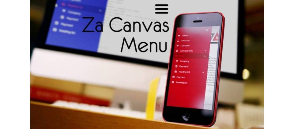 Za Canvas Menu