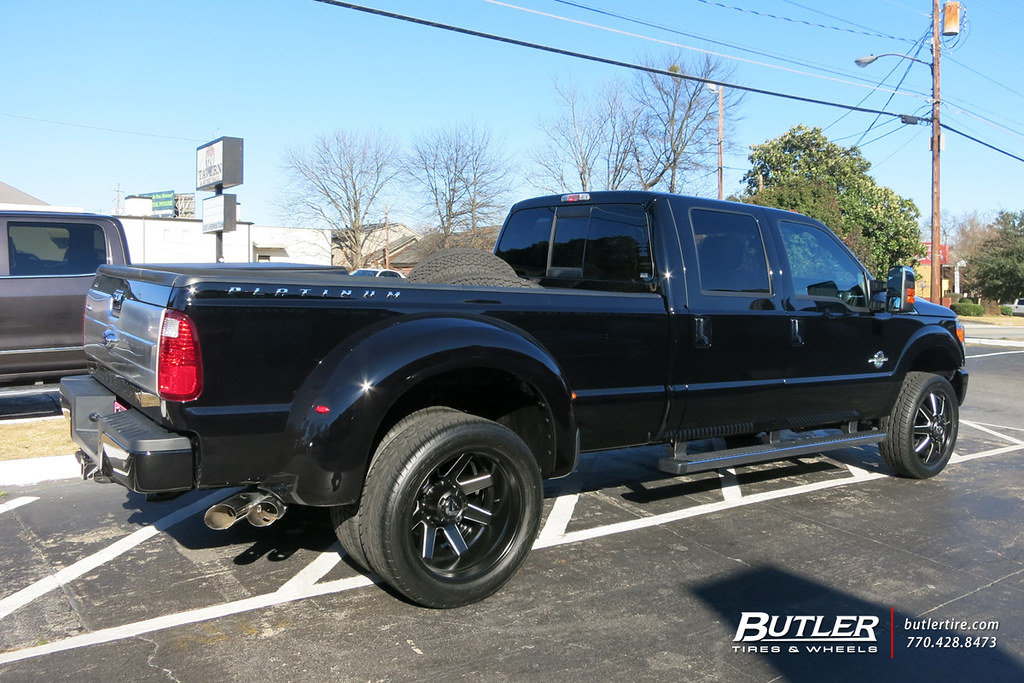 Ford F350 Dually With 22in Fuel Maverick Dually Wheels And Toyo