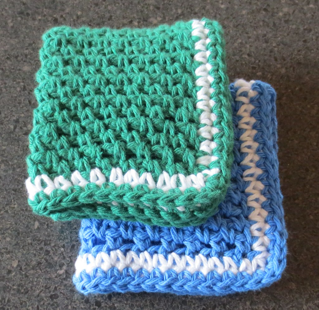 Linen Stitch Dishcloths | My Recycled Bags.com