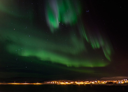 Northern lights above Berlevåg