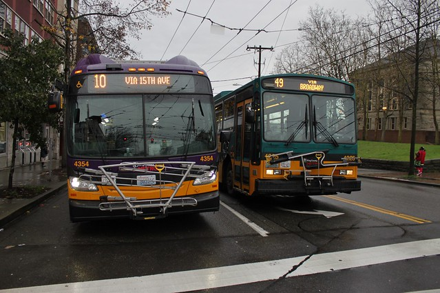Seattle trolleybuses: new and old