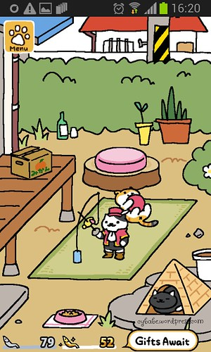 neko atsume yard screenshot