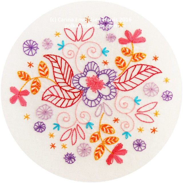 Dancing Blooms - embroidery pattern