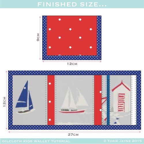 Oilcloth kids wallet - finished size-01
