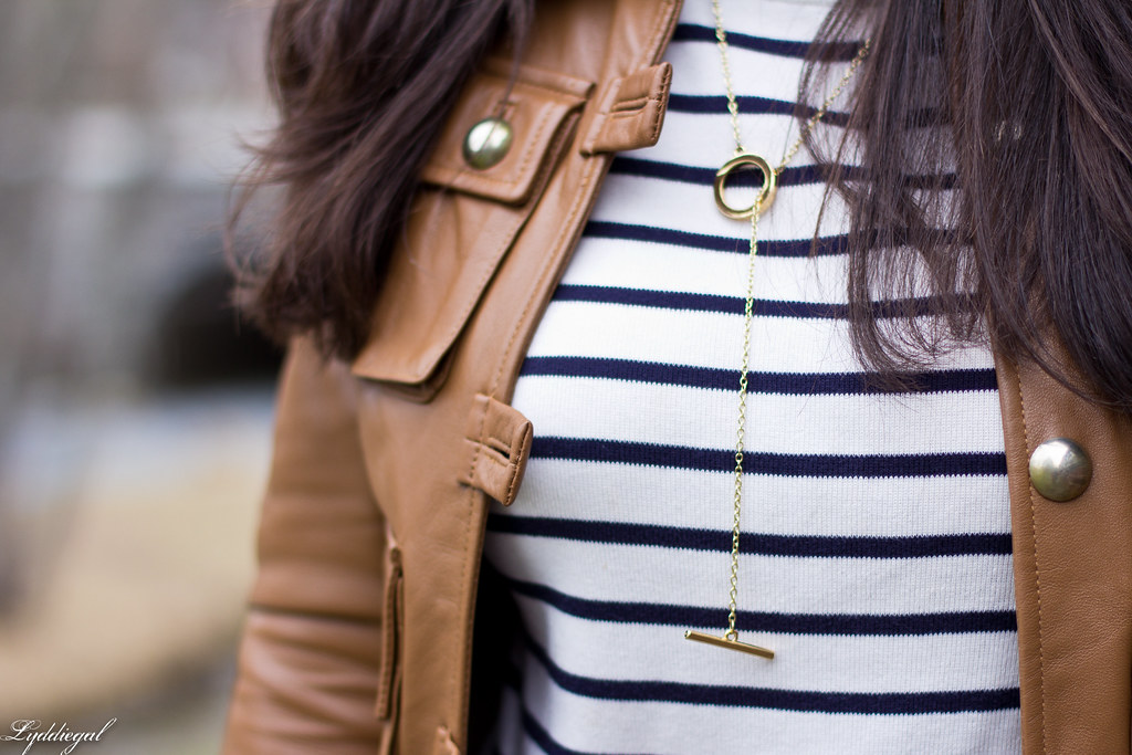 striped tee, brown leather jacket, lace up flats-6.jpg