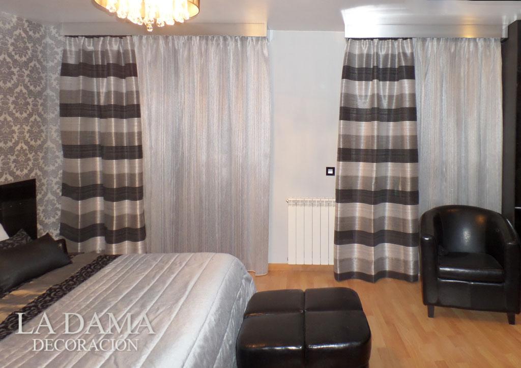 Fotograf as de cortinas modernas la dama decoraci n for Simulador habitaciones online