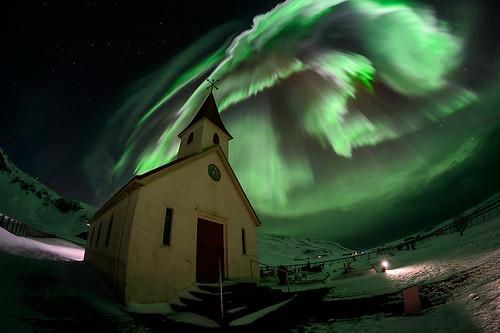 Aurore boréale près de Vik - Islande