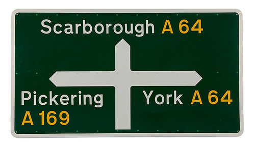 Jock Kinneir and Margaret Calvert's British road signs
