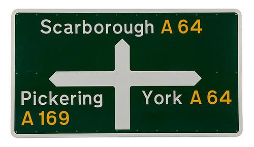 Jock Kinneir and Margaret Calvert's British road signs